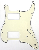 "Stratocaster Pickguard cut for Two humbuckers ""1964 Aged White"""