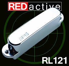 REDactive Tele Neck Pickup Active Chrome Case - Blem
