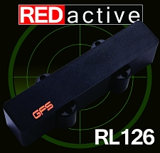 REDactive Jazz Bass Active pickup Bridge Position black Case - Blem