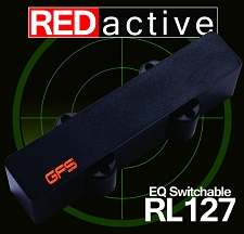 REDactive EQ Switchable Jazz Bass Active pickup Neck Position black Case - Blem