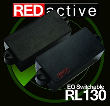 REDactive EQ Switchable P Bass Active pickup  black Case