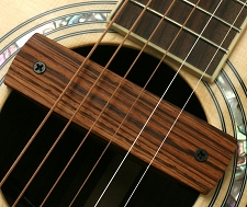 GFS Zebra Wood Soundhole Magnetic Pickup 3.5mm for Blender