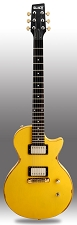 Slick SL52 Distressed TV Yellow Dual Humbucker PIckups