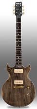 Slick SL60 Aged Brown Woodgrain Dual P90 Pickup