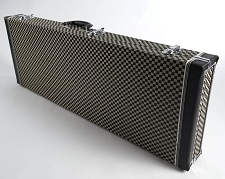 PREMIUM Checkerboard Hardshell Strat/Tele Case PLUSH Interior OUR BEST!
