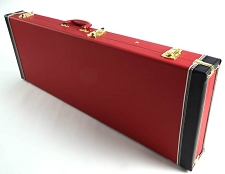 PREMIUM Red Levant Hardshell Strat/Tele Case PLUSH Interior OUR BEST!
