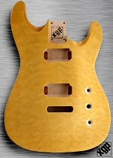XGP Arched Top Strat Body Quilted Maple 2H Vintage Natural
