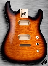 XGP Arched Top Strat Body Quilted Maple 2H Sunburst