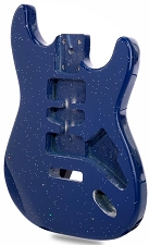 "Price Slashed ""Dano Flake"" Stratocaster Style Body HSH Blue Sparkle"