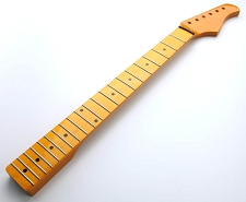 NEW STOCK! Vintage Amber Gloss Telecaster-fit neck Maple Fingerboard - Blem
