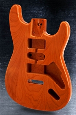 Stratocaster Style Body HSH SOLID ASH Dark Ash Finish