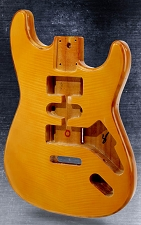 Flamed Maple Drop Top Vintage Natural Stratocaster Style Body