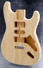Unfinished White Poplar Stratocaster Style HSH Body