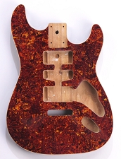 Mother of Pearl Strat Body, Tremolo Rout,  HSH Tortoiseshell Celluloid, Cream Binding