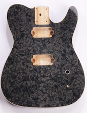 Mother of Pearl Tele Body 2 Humbuckers Charcoal Celluloid, Cream Binding
