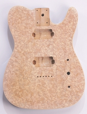 Mother of Pearl Tele Body 2 Humbuckers White Pearl Celluloid, Cream Binding