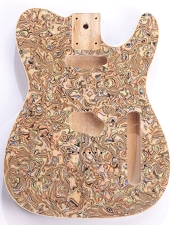 Mother of Pearl Tele Body Swirled