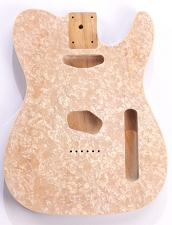 Mother of Pearl Tele Body White Pearl Celluloid, Cream Binding, Single Coil Routed
