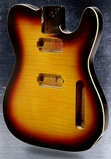 2-Humbucker Telecaster Style body Flame Maple top Bound Vintage Sunburst