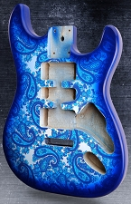 Blue Paisley Stratocaster Style Body HSH Super LIghtweight