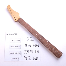 Satin Finished, Maple Neck with Rosewood Fingerboard