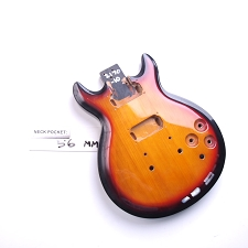 Gloss Finished, 3-Tone Sunburst, Double Cutway Body, HH
