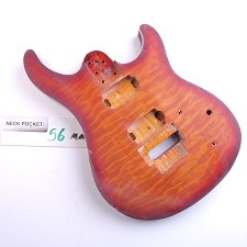 Satin Finished, Quilted, Cherryburst,, Double Cutway Body, HH, Floyd Cut and Binding