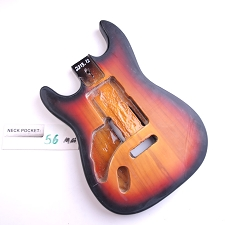 Satin Finished, 3-Tone Sunburst,