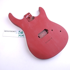 Satin Finished, Red, Double Cutway Body, H