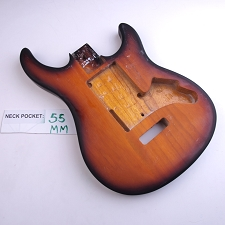 Satin Finished, Vintage Sunburst, Double Cutway Body, Swimming Pool Rout