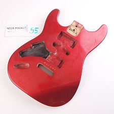 Gloss Finished, Metallic Red, Double Cutway Body, HSH - LEFTY