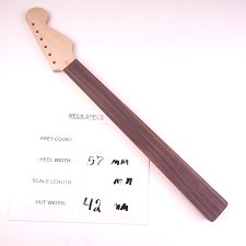 6 in Line, Unfinished, Maple Neck with Rosewood Fretless Fingerboard