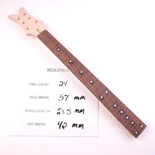 3x3, Unfinished, Maple Neck with Rosewood Fingerboard - No Frets