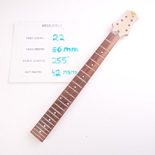 3x3, Clear Gloss Finished, Maple Neck with Rosewood Fingerboard
