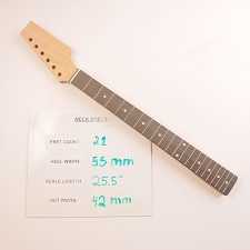 6 in Line, Unfinished, Maple Neck with Rosewood Fingerboard - Paddle Headstock
