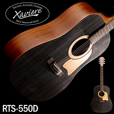 Xaviere ALL WOOD Raised Grain Dreadnaught Black Spruce Top