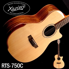 Xaviere ALL WOOD Premium Cutaway Zebrawood, Solid Spruce Top