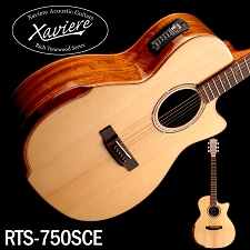 Xaviere ALL WOOD Premium Cutaway Acoustic/Electric Black Walnut, Solid Spruce Top