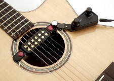 Gold Foil clip-on soundhole Magnetic Pickup with Volume/Tone