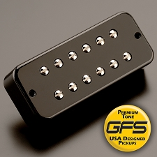 KP - Soapbar 180 Humbucker in a Soapbar P90 Shell, Black - HIGH OUTPUT - Kwikplug™ Ready