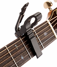 Quick Release Aluminum Capo Black Finish