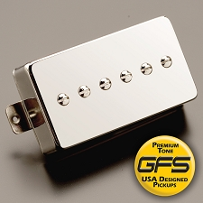KP - Mean 90- True Alnico  P90 Pickup in Humbucker Case, Our FATTEST: Mean 90, Chrome - Kwikplug™ Ready
