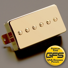KP - Mean 90 - Alnico P90- Fat and Strong Output, Gold Case - Kwikplug™ Ready