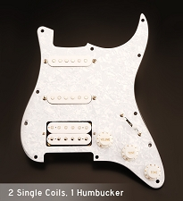 Pearl Wired Strat 3ply Pickguard H/S/S Humbucker J06