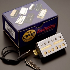 KP - GFS Gold Foil Single Coil Humbucker Shell, Chrome - Kwikplug® Ready