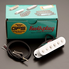 KP - White Neodymium Single pickups - True Vintage Sparkle. - Kwikplug Ready