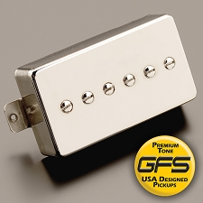 KP - GFS Mean 90 Alnico TRUE P90 in a humbucker Case Nickel Finish - Kwikplug™ Ready