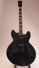 Set-Neck Special - 335 Style - Humbuckers,  Black