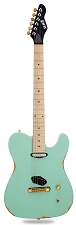 Slick SL50 Aged Surf Green Dual Telecaster Pickups Maple Fingerboard