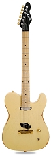 Slick SL50 Aged Vintage Cream Dual Telecaster Pickups Maple Fingerboard